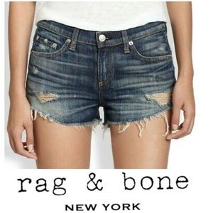 EUC Rag & Bone Distressed Sheffield Jean Shorts